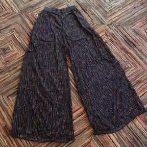 Flowy Wide Leg Polka Dot Pant